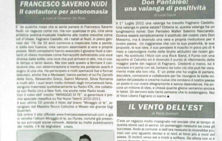 Francesco Saverio NUDi su il Paesano